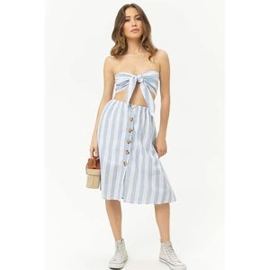 2 Piece Stripe Midi Skirt Set